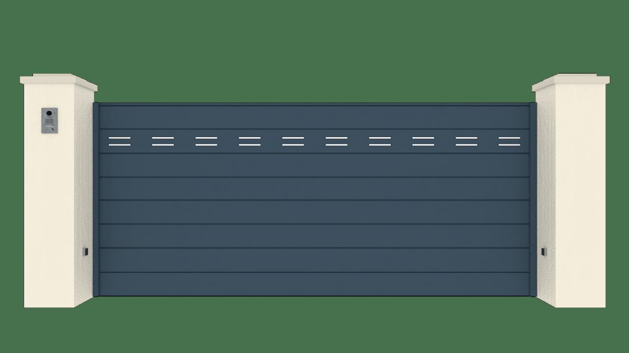Portail Coulissant Gamme Horizon Modèle Séduction Dotted Line 1