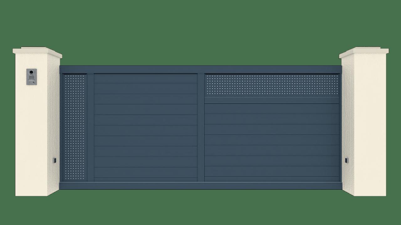 Portail Coulissant Gamme Tradition Modèle Création 2