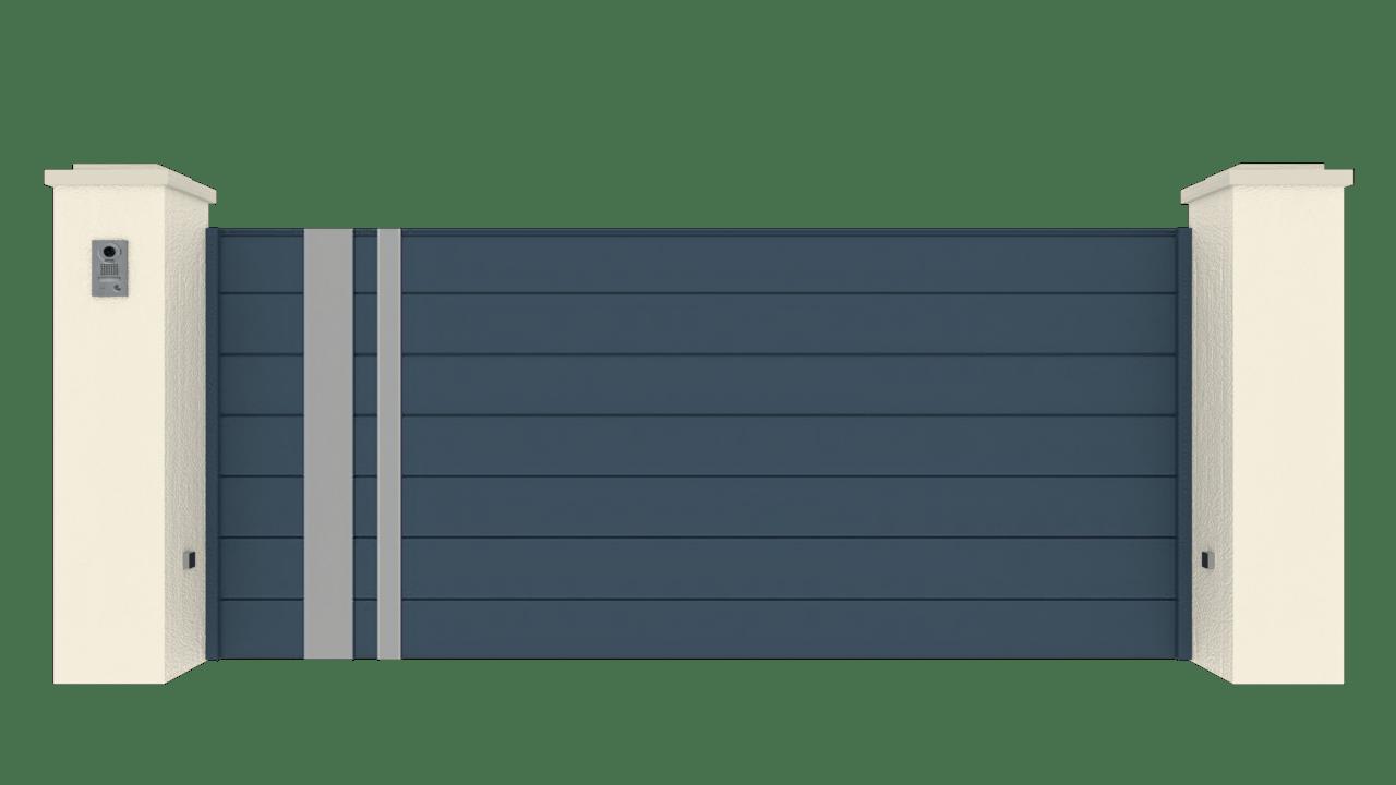 Portail Coulissant Gamme Horizon Modèle Sensation Style 1