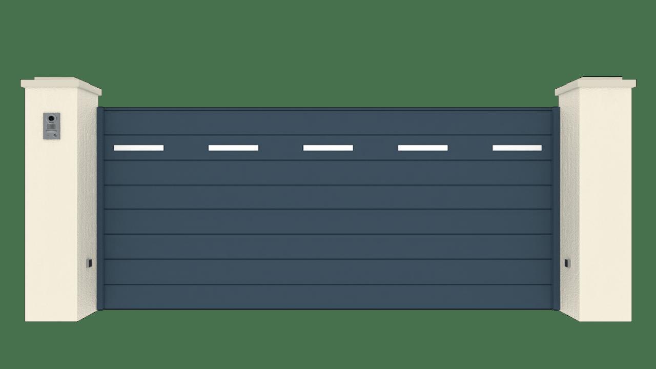 Portail Coulissant Gamme Horizon Modèle Séduction Dotted Line 3