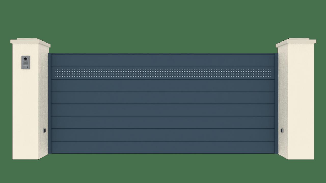 Portail Coulissant Gamme Horizon Modèle Séduction Drill