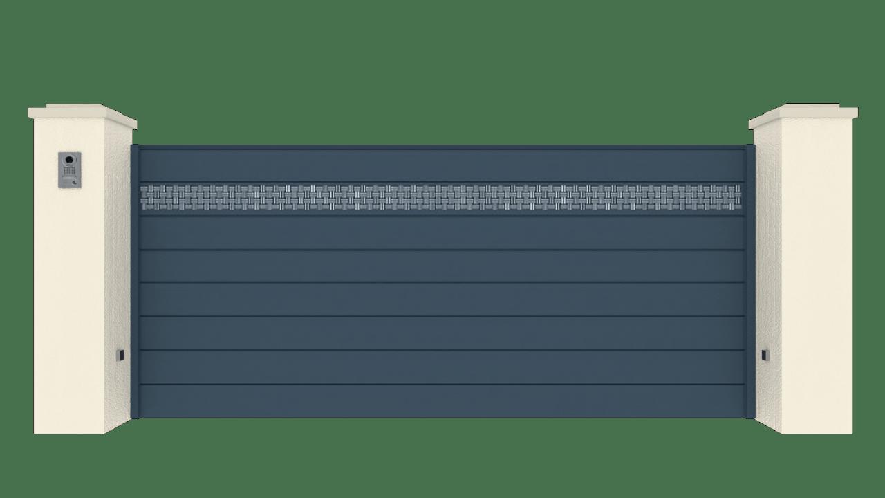 Portail Coulissant Gamme Horizon Modèle Collection Fabric