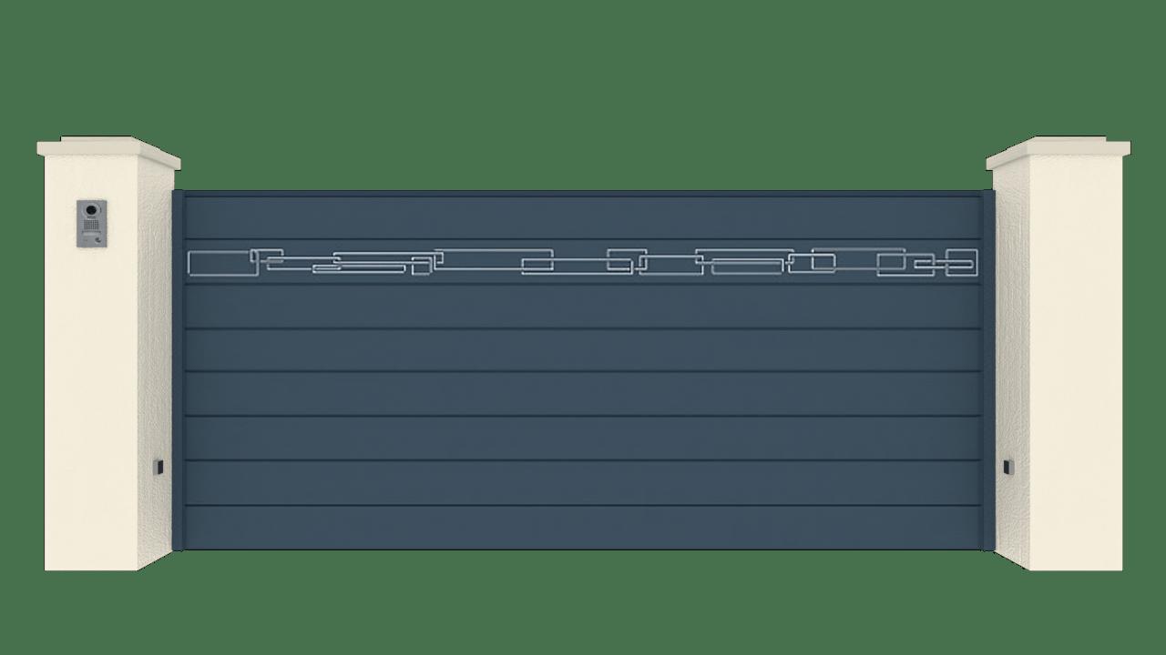 Portail Coulissant Gamme Horizon Modèle Collection Blend