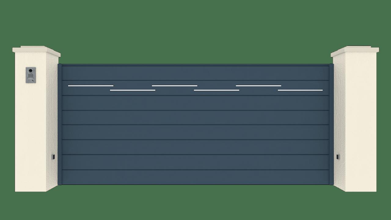 Portail Coulissant Gamme Horizon Modèle Séduction Dotted Line 2
