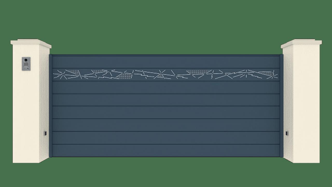 Portail Coulissant Gamme Horizon Modèle Collection Storm