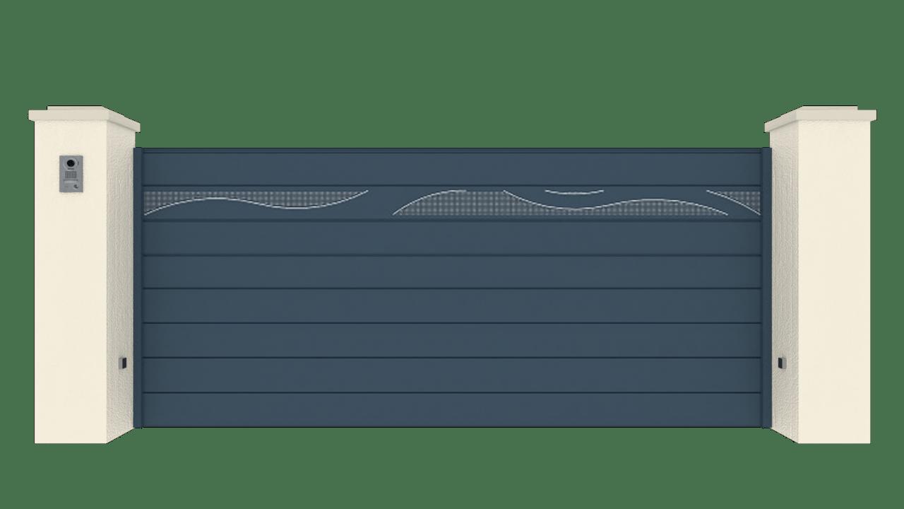 Portail Coulissant Gamme Horizon Modèle Collection Ripple